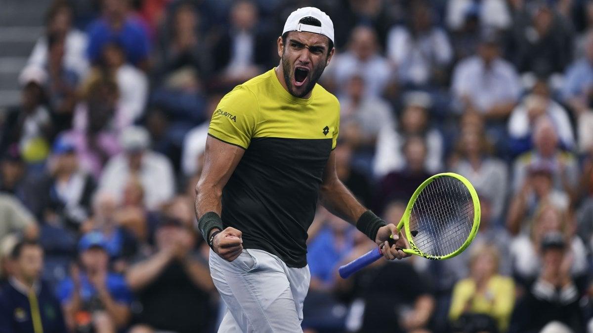 Tennis, Us Open: storico Berrettini, primo italiano ai quarti dopo 42 anni