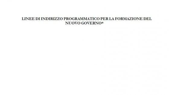 Online la bozza in 26 punti del programma di governo M5s-Pd