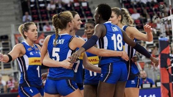 Volley, Europei donne: l'Italia batte 3-1 la Russia e vola in semifinale
