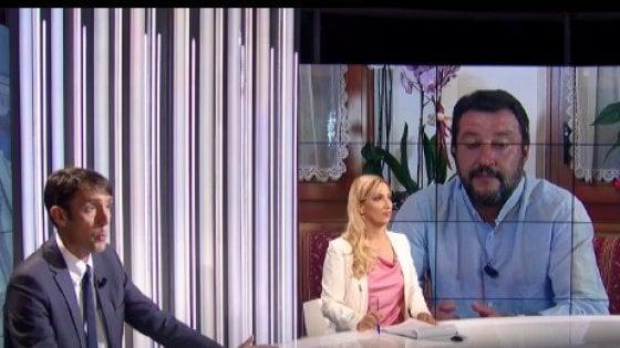 Salvini al Tg2 Post risponde male al giornalista di Repubblica Carmelo Lopapa