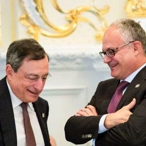 Draghi con Gualtieri, neo ministro dell'Economia italiano