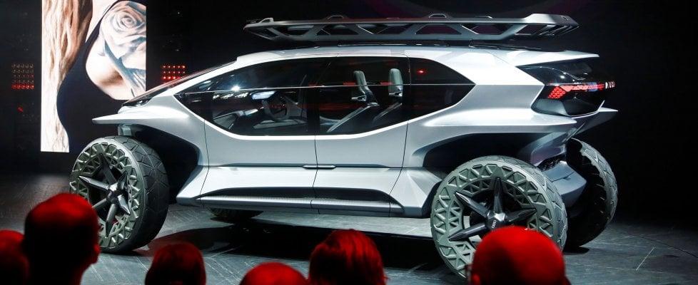 Nuova Audi AI:TRAIL quattro, a Francoforte il fuoristrada del futuro
