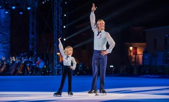 Il Centrale del tennis diventa di ghiaccio per ospitare Opera on Ice e i campioni del pattinaggio