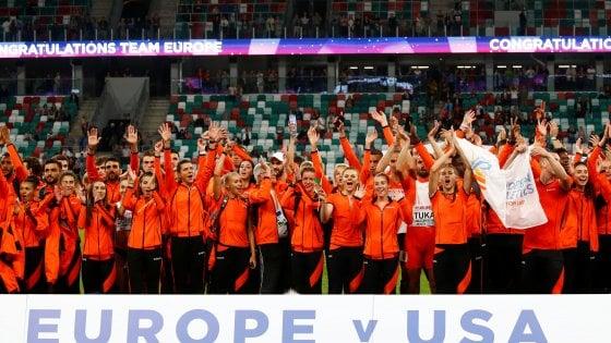 Atletica, Europa batte Usa: Desalu secondo nei 200, Crippa terzo nei 3000