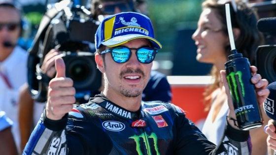 MotoGp, Vinales in pole a Misano. Scintille Rossi-Marquez