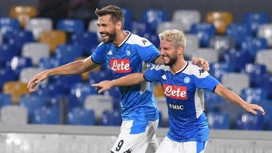 Napoli-Sampdoria 2-0, una doppietta diMertens rilancia gli azzurri