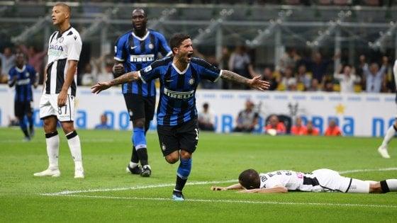 Inter-Udinese 1-0, Sensi regala ai nerazzurri la vetta solitaria