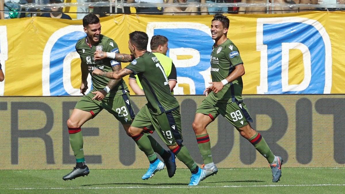 Parma-Cagliari 1-3, Ceppitelli e Simeone sbloccano i sardi