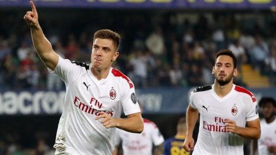 Verona-Milan 0-1: Piatek si sblocca su rigore, ma i rossoneri rischiano molto