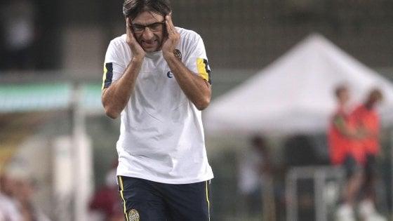 "Verona, Juric: ""Rosso Stepinski al limite. Meritavamo la vittoria"""