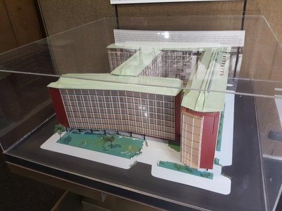 Un plastico della sede Rai di Viale Mazzini