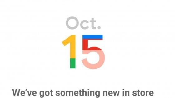 Google, il Pixel 4 in arrivo il 15 ottobre