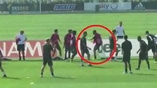 Torello in allenamento: Higuain perde e si infuria