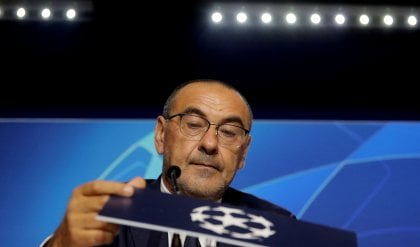 "Juve, Sarri: ""Niente pressione leggeri e determinati"""