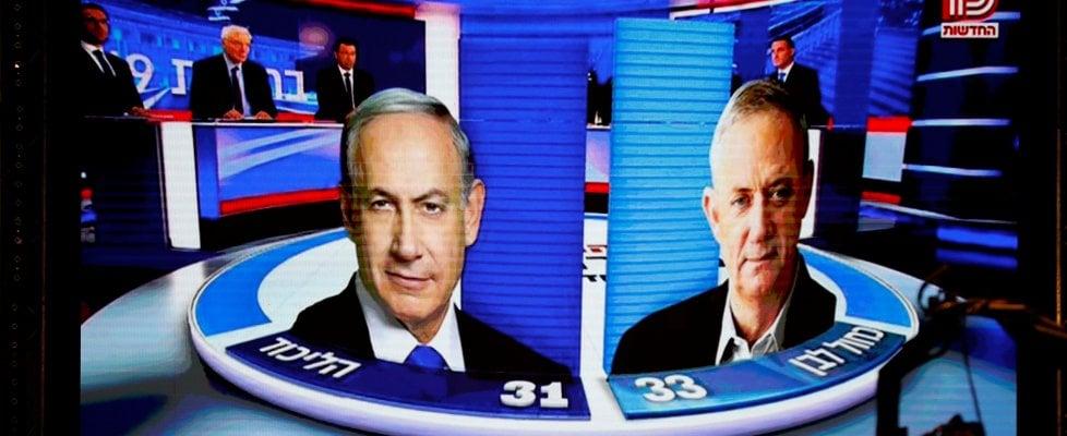 Israele, testa a testa Gantz-Netanyahu . Lieberman decisivo per formare il governo