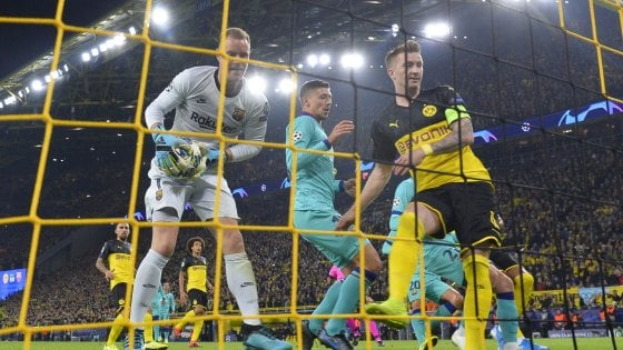Champions, Ter Stegen salva il Barcellona a Dortmund: finisce 0-0. Il Salisburgo a valanga