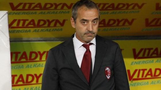 """Milan, Giampaolo: """"Lavoriamo per fare meglio dello Slavia..."""""""