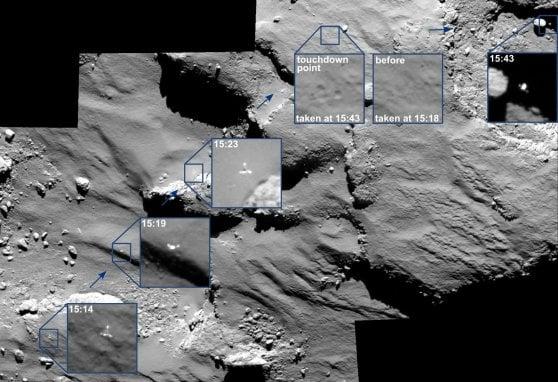 La cometa della missione Rosetta sconvolta dalle frane, tutta colpa del Sole