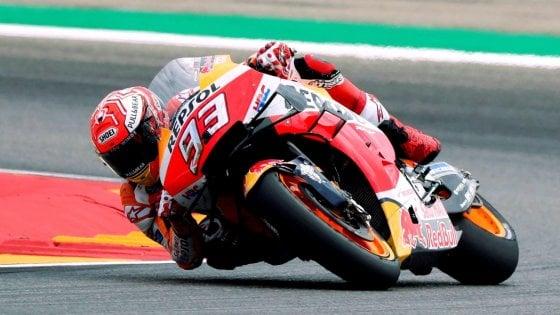 MotoGp, libere Aragona: Vinales davanti a Rossi, ma è Marquez a impressionare