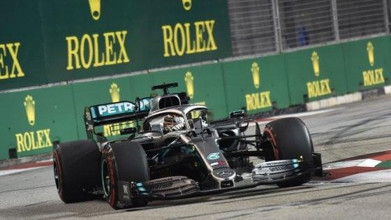 Formula 1, Gp Singapore: nelle libere miglior tempo per Hamilton, Vettel terzo