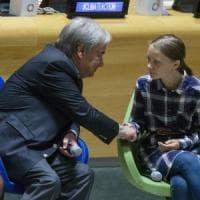 "Greta Thunberg all'Onu: ""Noi giovani uniti e inarrestabili"""