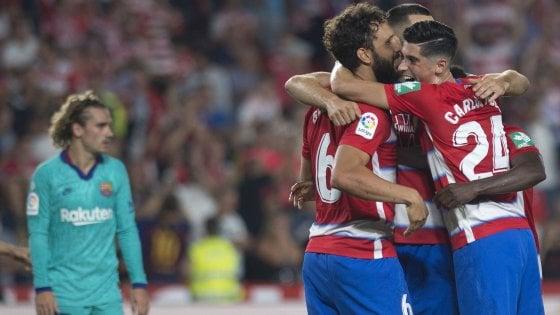 Liga: il Barcellona cade 2-0 a Granada, adesso è crisi