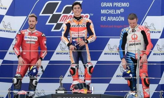 MotoGp, Aragon: Marquez senza rivali, Dovizioso rimonta ed è secondo