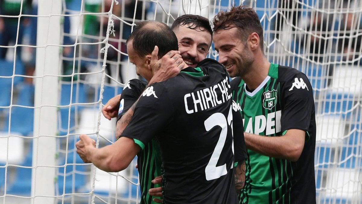 Sassuolo-Spal 3-0: Berardi inventa, Caputo fa doppietta