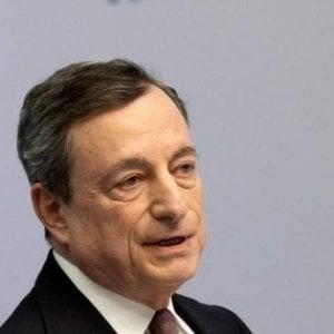 Bce, Draghi: Crescita Eurozona più rallentata del previsto