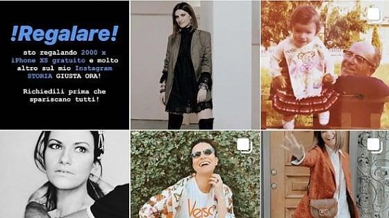 "Instagram, violato l'account di Laura Pausini: ""Regalo smartphone Apple"""