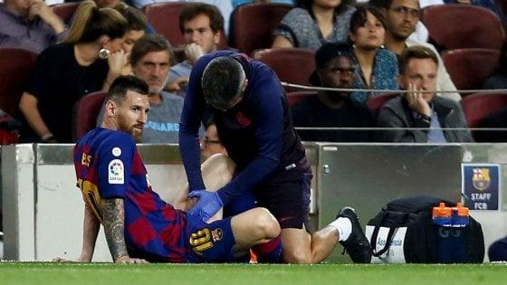 Spagna, Barcellona batte Villarreal: ma Messi si fa male di nuovo