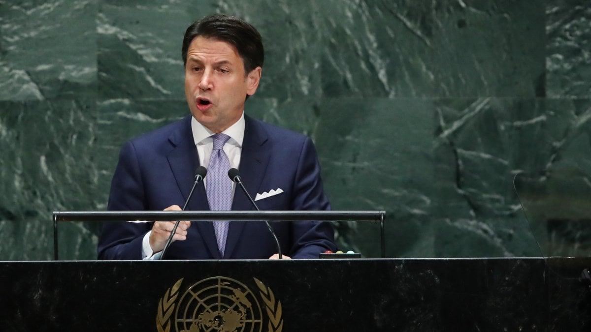 """Conte all'Onu: """"Allarme ghiacciao Monte Bianco deve scuoterci"""". Il premier cerca l'aiuto di Trump sulla Libia"""