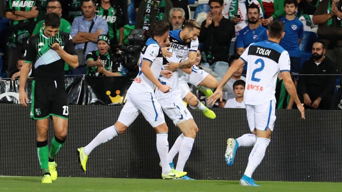 Sassuolo-Atalanta 1-4: doppio Gomez, i nerazzurri passeggiano