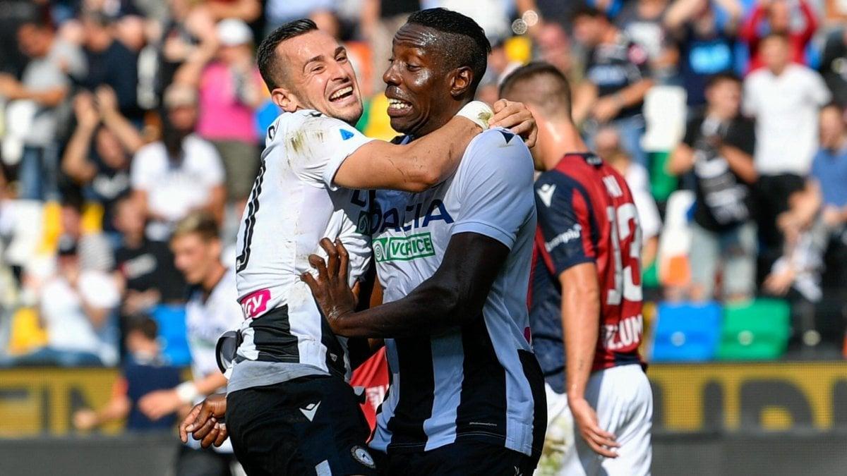 Udinese-Bologna 1-0, Okaka fa tornare il sorriso ai friulani