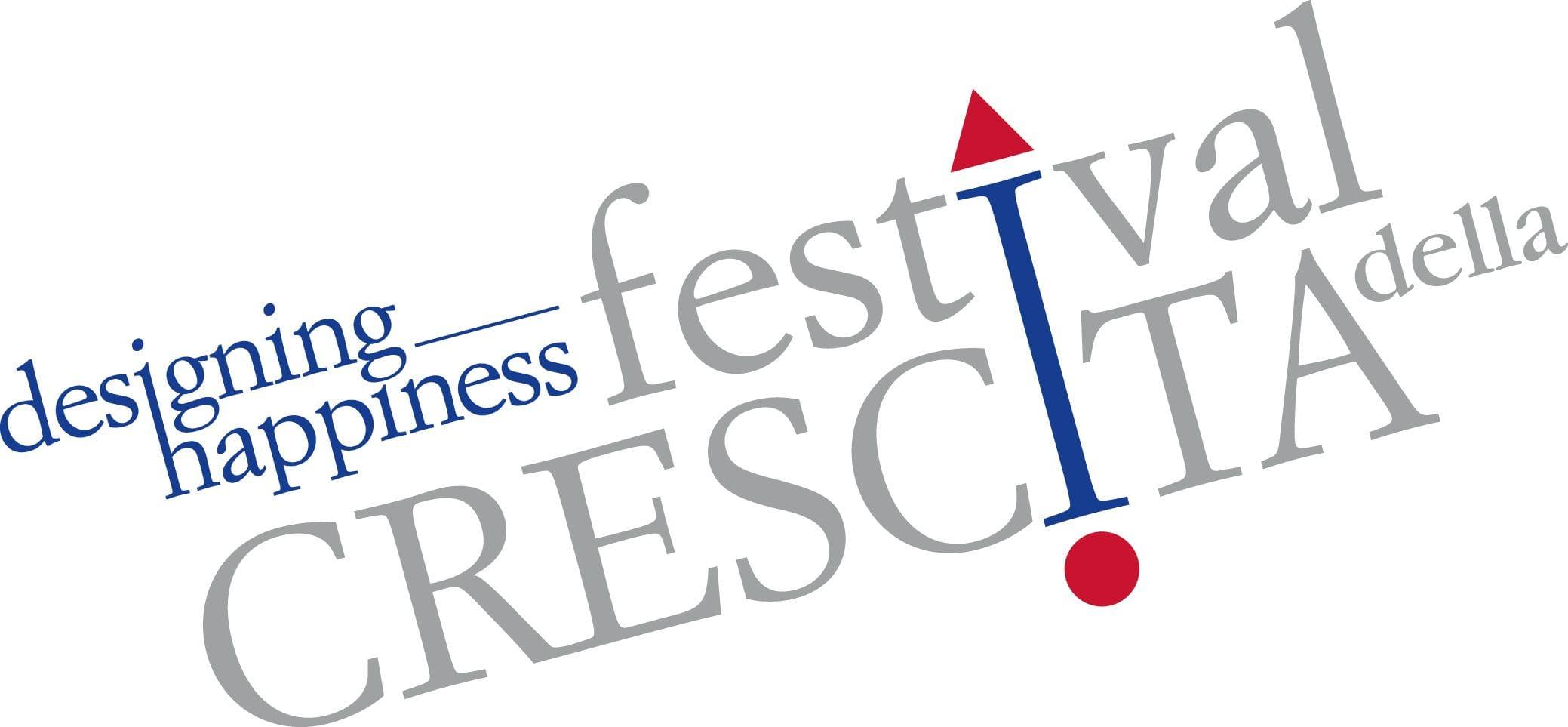 """Il Logo dell'edizione """"Designing Happiness"""" del Festival della Crescita"""
