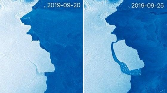 """Un gigantesco iceberg si è staccato dall'Antartide. Gli esperti: """"E' normale"""""""