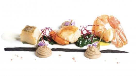 L'insalata di mare è banale? Provate a farla con spinaci, cannellini al caffè e crema di mozzarella