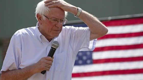 Usa 2020, il senatore Bernie Sanders ricoverato in ospedale