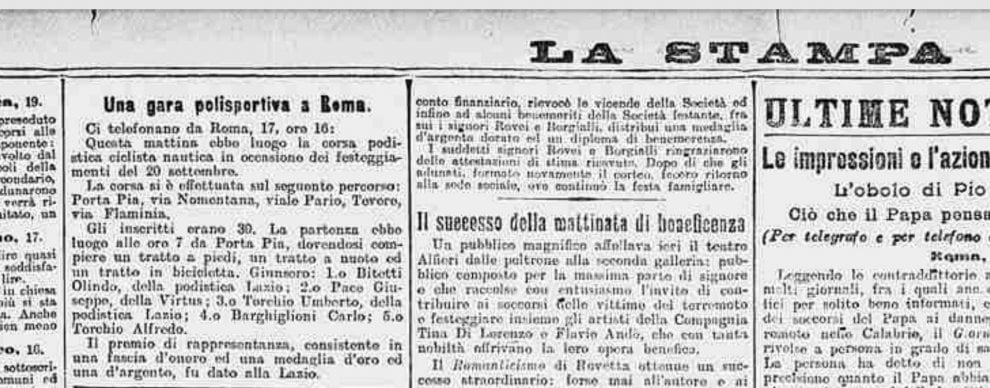 Quella gara di inizio Novecento a Roma, antesignana del triathlon