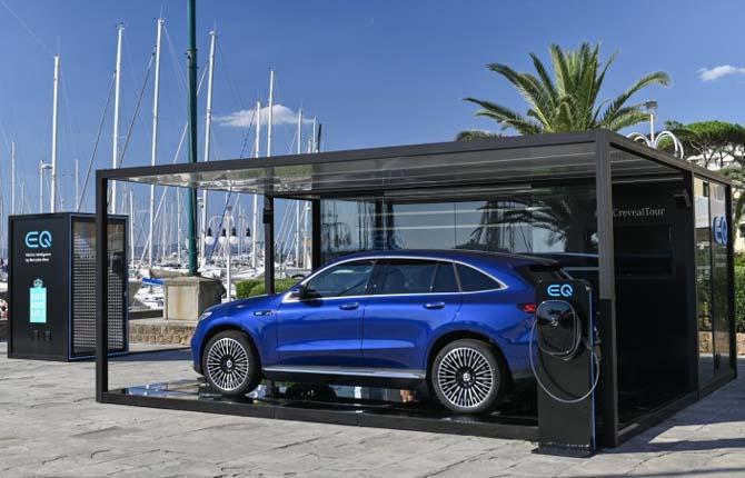 Mercedes-Benz, il Reveal Tour di Eqc fa tappa a Milano