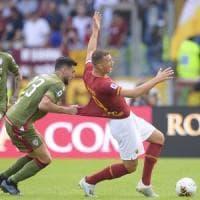 Roma-Cagliari 1-1, giallorossi fermati tra le polemiche