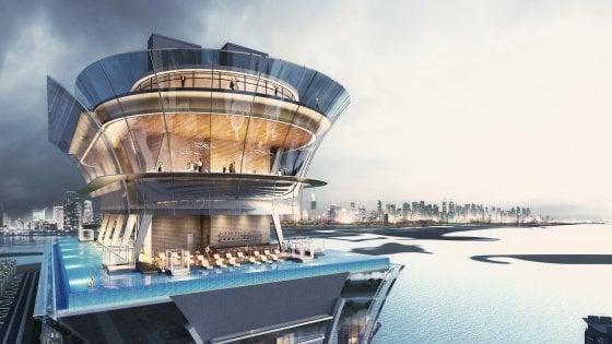 Dubai scalza Singapore. La piscina su grattacielo più alta è nel Golfo