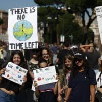 Fridays For Future, il 40 per cento dei ragazzi alla prima manifestazione