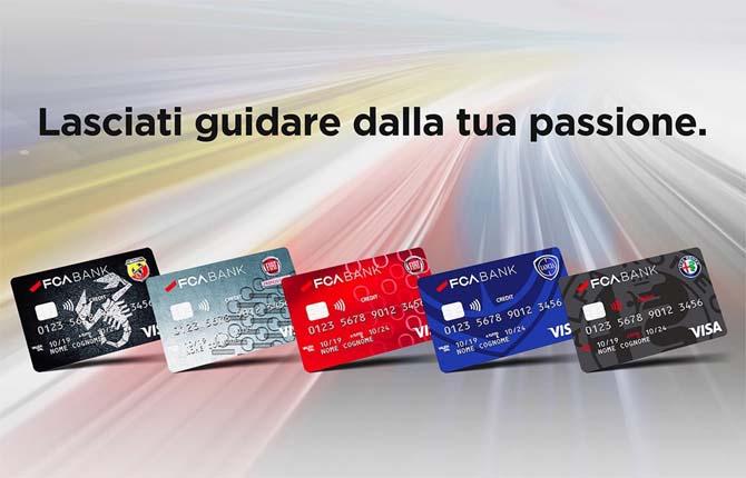 Fca Bank, la carta di credito è brandizzata