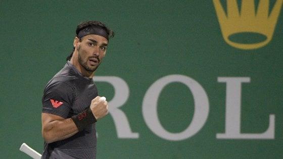 Tennis, Masters Shanghai: Fognini batte Murray e vola agli ottavi, ok Berrettini