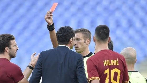 Giudice sportivo, due giornate a Fonseca: la Roma fa ricorso
