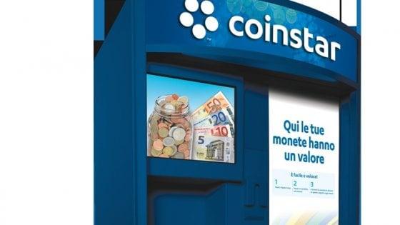 Coinstar, il gigante Usa cambia-spiccioli ora si espande in Italia