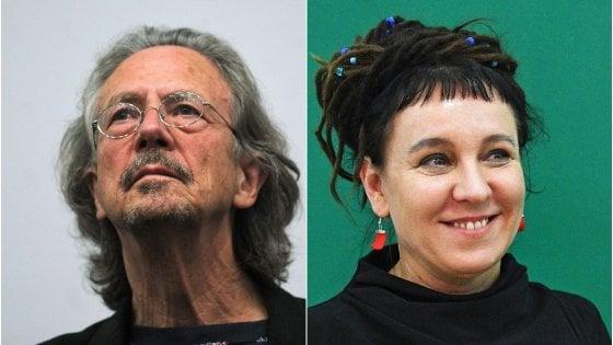 Il premio Nobel per la Letteratura a Olga Tokarczuk e Peter Handke: dopo 69 anni due premiati in contemporanea