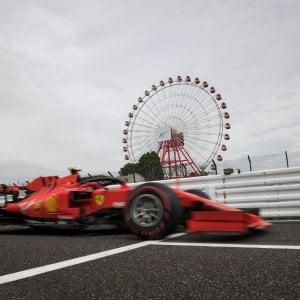 F1, Gp Giappone, la Ferrari insegue nelle libere: Il bagnato ci può aiutare