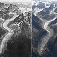 I ghiacciai del Monte Bianco stravolti in un secolo